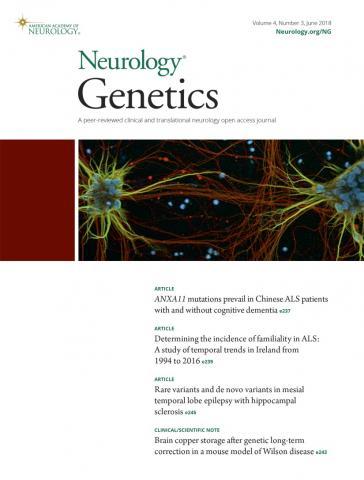Neurology Genetics: 4 (3)
