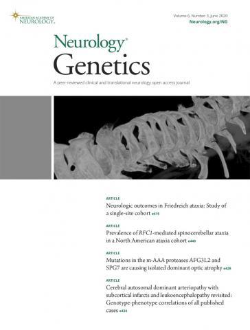 Neurology Genetics: 6 (3)