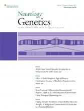 Neurology Genetics: 7 (4)