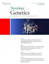 Neurology Genetics: 7 (6)